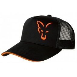 Шапка Fox Black & Orange Trucker Cap
