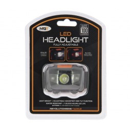 Челник NGT LED Headlight with White and Red Light (100 lumens)